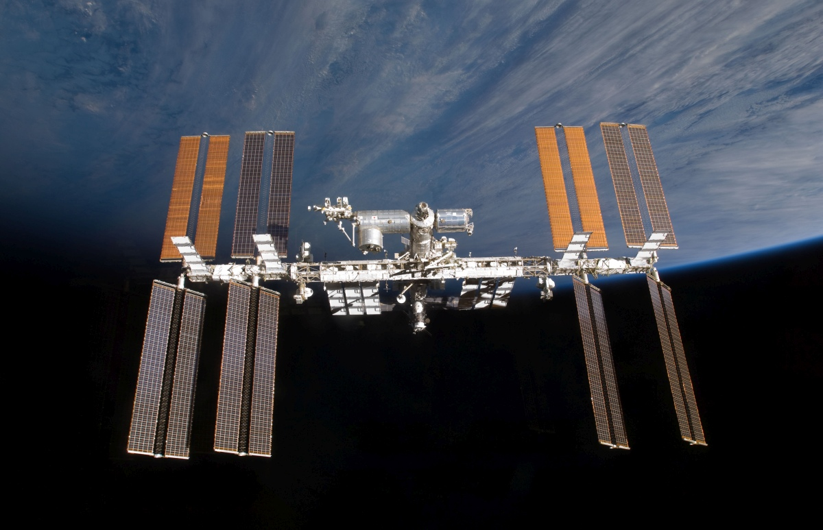 The ISS photographed by an STS-129 crew member on Nov. 25, 2009